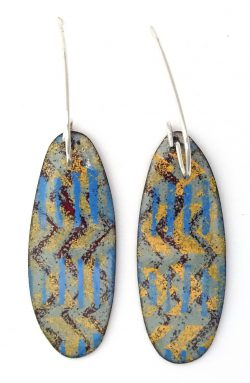 opaque multi layered enamel earrings by wicked imp designs