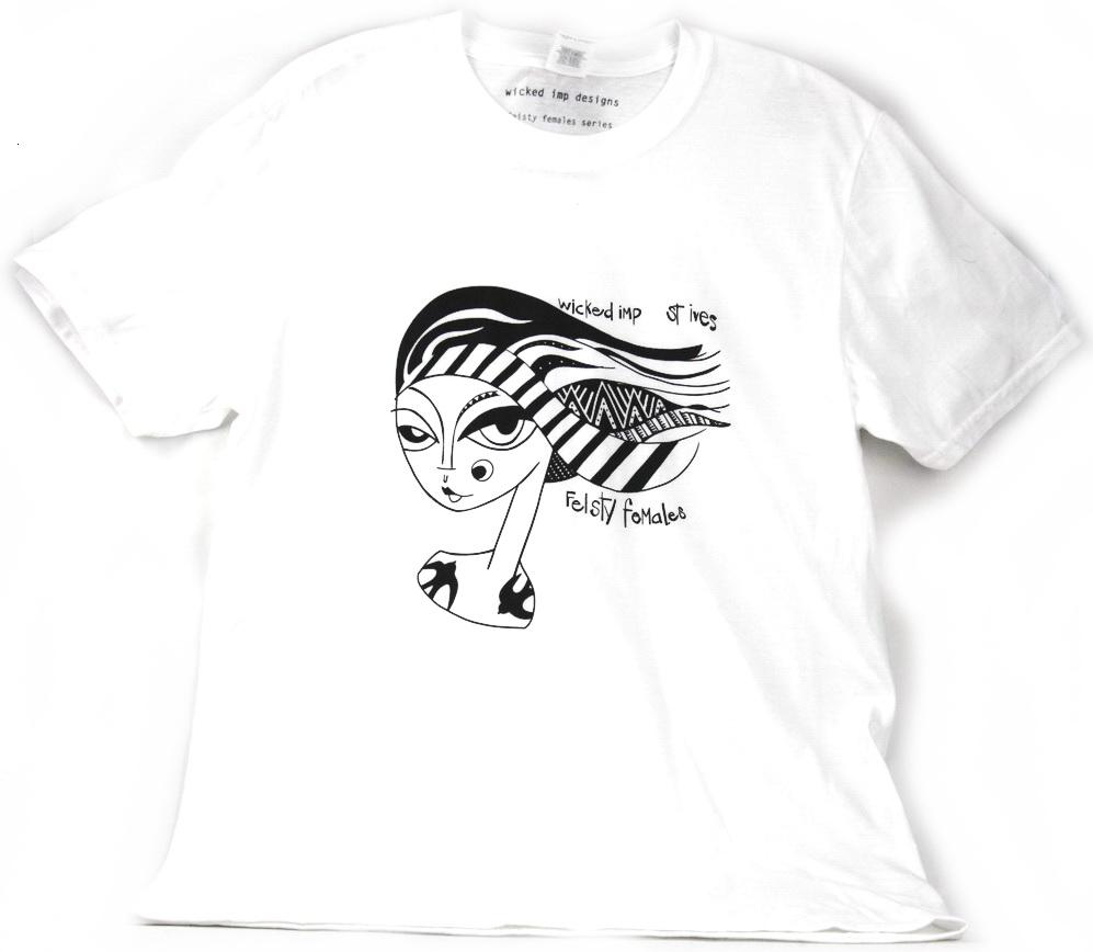 """""""feisty female"""" T shirt"""