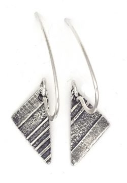 wicked imp designs silver milled and patina earrings