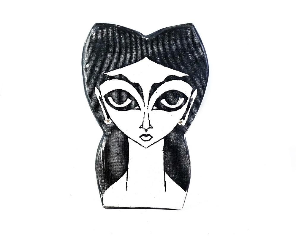ceramic head wall sculpture Irene