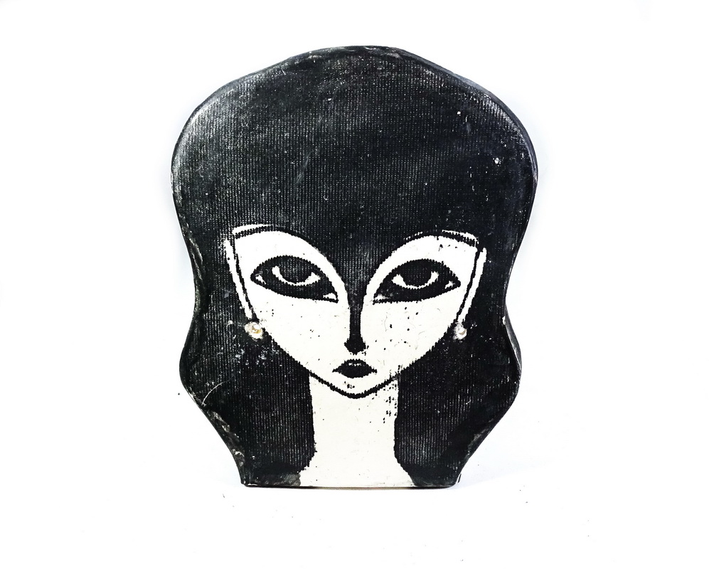 ceramic head wall sculpture Judith