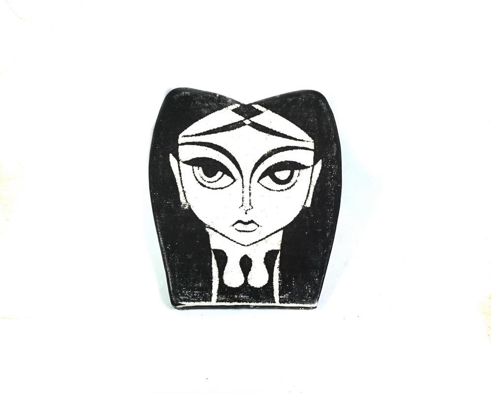 ceramic head wall sculpture Sofia