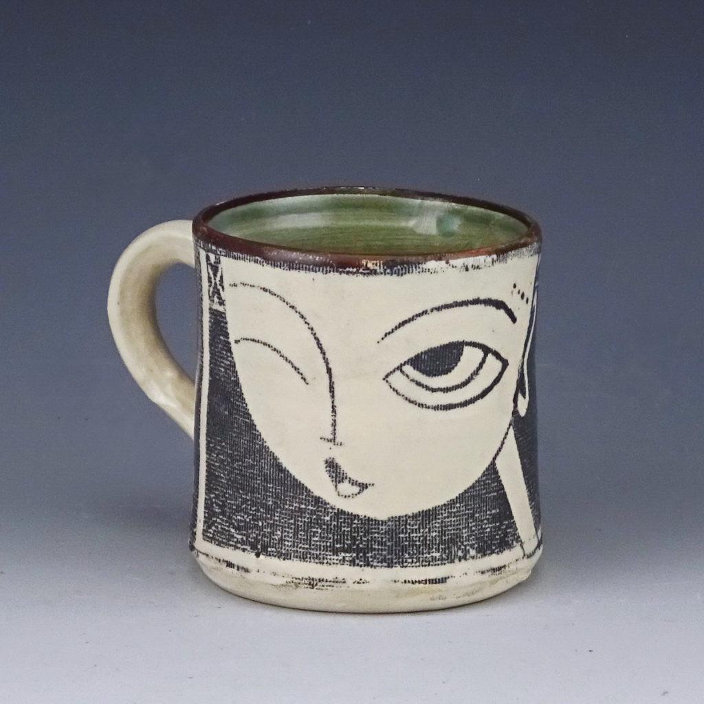 winky ceramic mug handmade wicked imp designs